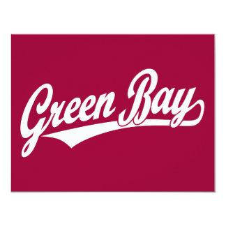 Green Bay script logo in white Card