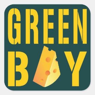 Green Bay Square Sticker