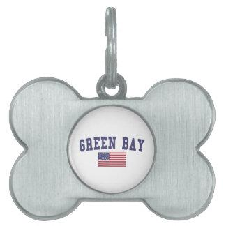 Green Bay US Flag Pet ID Tag