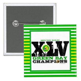 Green Bay XLV Football Champs Square Button