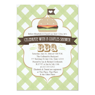 Green BBQ Couples Wedding Shower Invitations