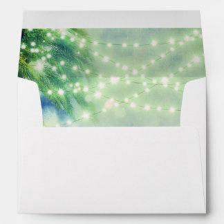green beach palm tree lights envelopes