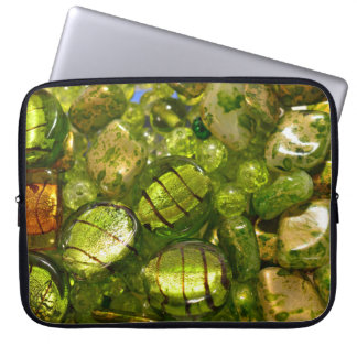 Green beads laptop sleeve