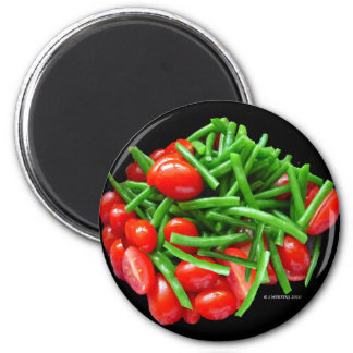 Green Bean and Tomatoes Magnets