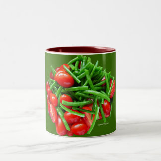 Green Bean and Tomatoes Coffee Mugs