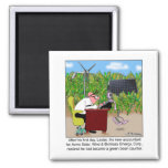 Green Bean Counter 2 Inch Square Magnet