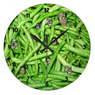 Green Bean Heads Clock