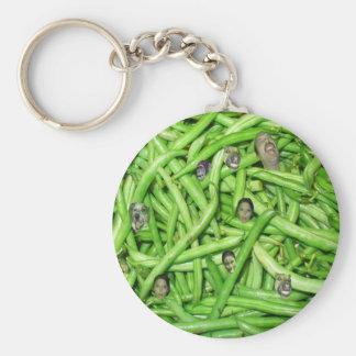 Green Bean Heads Key Chain