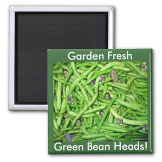 Green Bean Heads! Magnets
