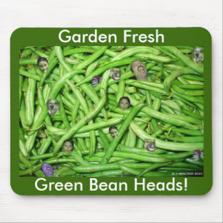 Green Bean Heads! Mouse Pad