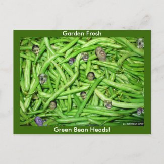 Green Bean Heads! postcard