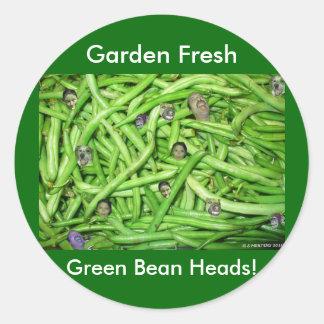 Green Bean Heads Sticker