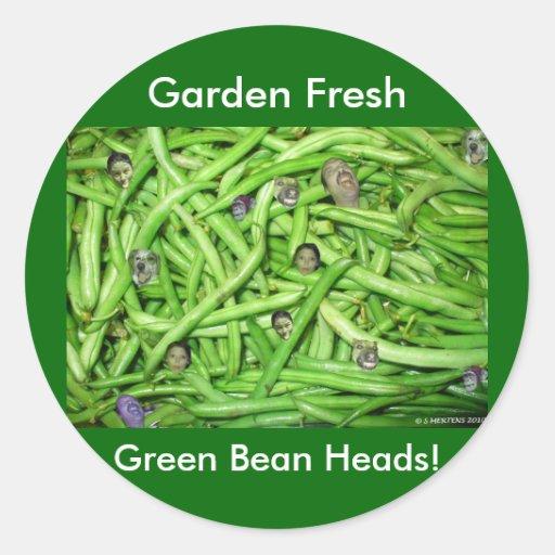 Green Bean Heads! Sticker