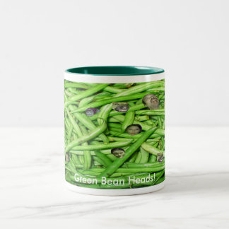 Green Bean Heads! Two-Tone Coffee Mug
