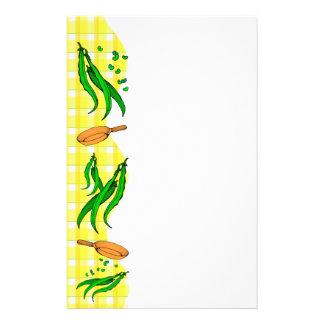 Green Bean Retro Yellow Plaid Flyer