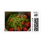 Green Beans and Red Potatoes Postage Stamps