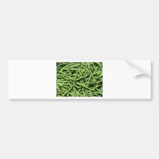 Green beans background bumper sticker