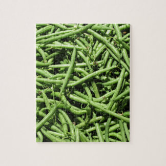Green beans background jigsaw puzzle