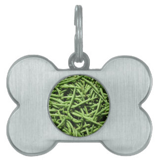 Green beans background pet ID tag