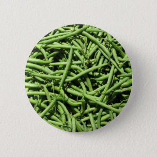 Green beans background pinback button