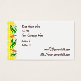 Green Beans Frying Pans Retro Business Cards