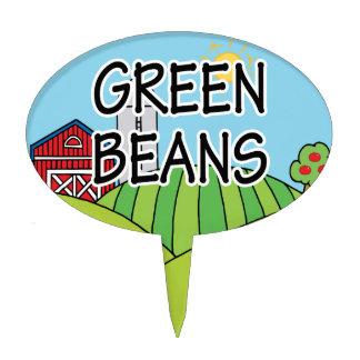 Green Beans Garden Marker Cake Topper