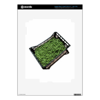 Green beans in box on white background decal for iPad 3