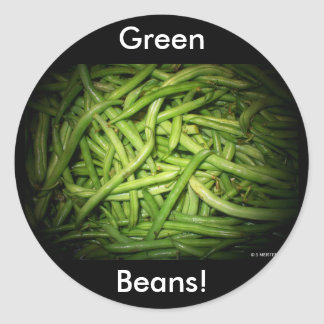 Green Beans in Spotlight Classic Round Sticker