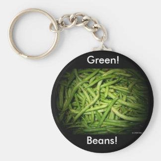 Green Beans in Spotlight Key Chains