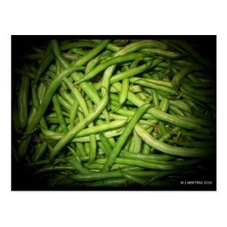 Green Beans in Spotlight Post Cards
