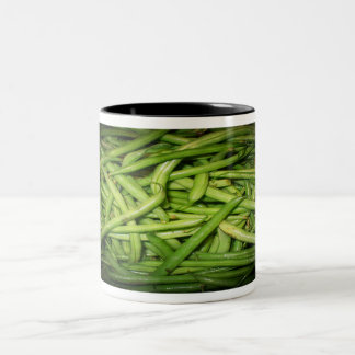 Green Beans in Spotlight Two-Tone Coffee Mug