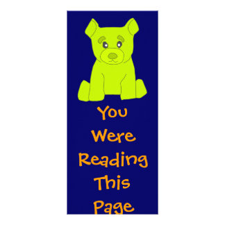 Green Bear Bookmark Template Personalized Rack Card