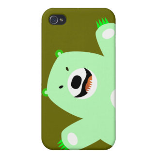 Green Bear iphone 4 case