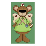 Green Bear Nurse Business Card