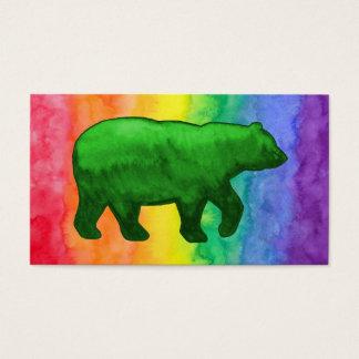 Green Bear on Rainbow Wash Business Card