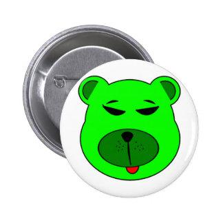 Green bear pins