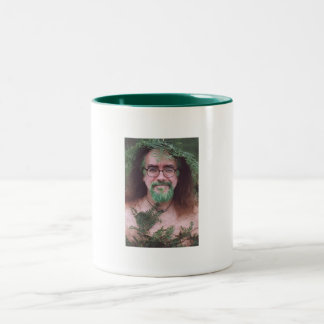 Green bearded Bard of Ely two tone mug