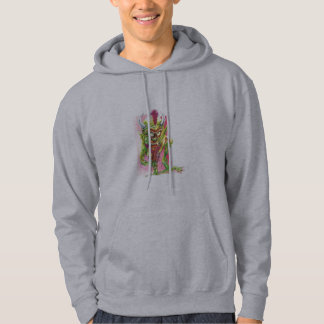 Green beast genie hooded sweatshirt