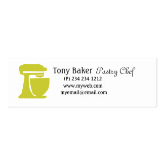 Green Beater Bakery Pastry Chef Business Card Template