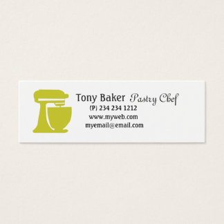 Green Beater Bakery Pastry Chef Mini Business Card