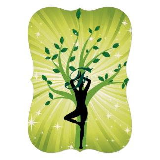 Green beautiful healer yoga yogi chakra energy chi card