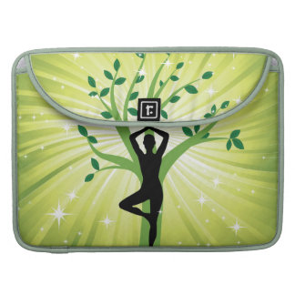 Green beautiful healer yoga yogi chakra energy chi MacBook pro sleeve