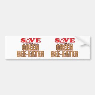 Green Bee-Eater Save Bumper Sticker