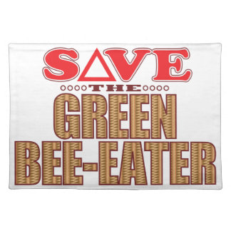 Green Bee-Eater Save Cloth Placemat