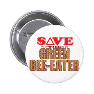 Green Bee-Eater Save Pinback Button