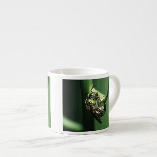 green bee espresso cup