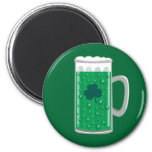 Green Beer 2 Inch Round Magnet