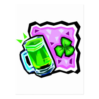 Green Beer and Rocks Postcard