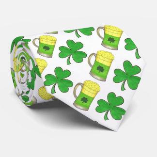 Green Beer Beers + Shamrock St. Patrick's Day Tie