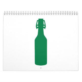 Green Beer Bottle Wall Calendar